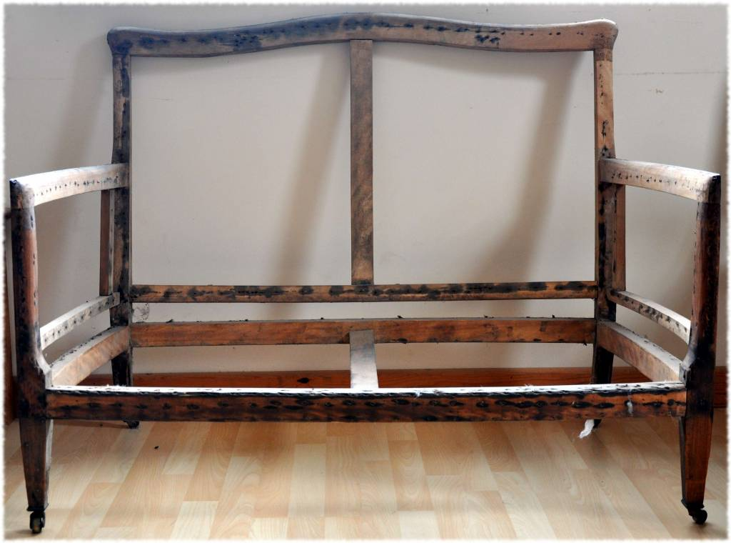 Light Wooden Framed Sofa