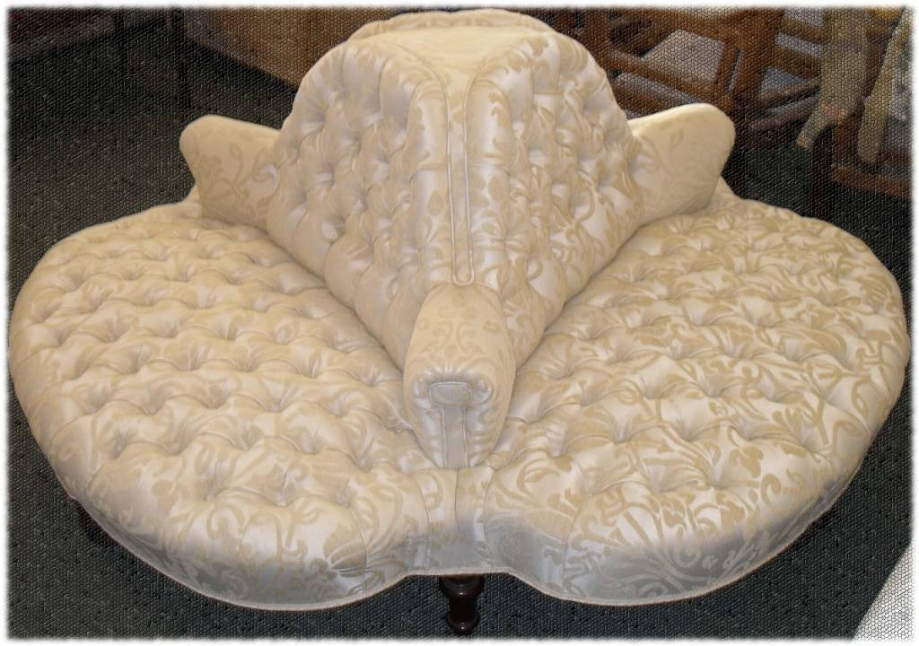 three padded seats in one centrepiece of furniture